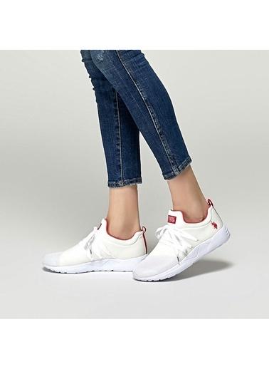 U.S. Polo Assn. U.S. Polo Assn. Kadın Beyaz   Düz Ayakkabı Beyaz